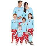 Yesmile Familien Outfit Sleepwear Set Kleidung Pyjamas NachtwäSche Damen Herren Erwachsene Pyjama Sets Homewear Familien Outfit Mutter Vater Kind Baby Pajama Weihnachts Xmas