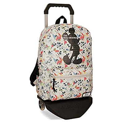 Disney True Original - Mochila escolar, 42 cm, 21.5 litros, Multicolor por Disney