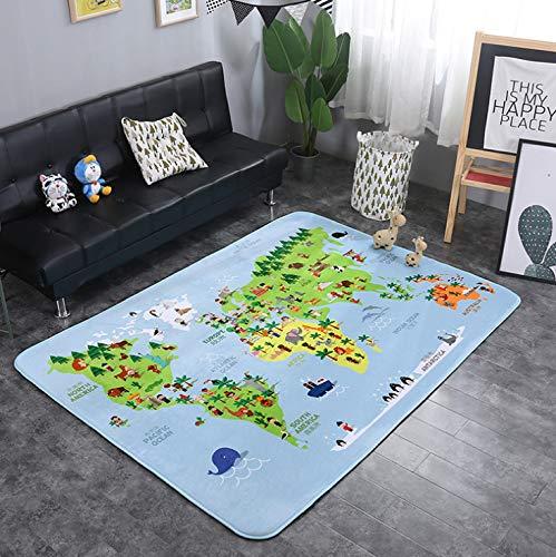 Lkrou Teppich Familie Set Europäischen Home Ins Einfache Nordic Cartoon Kinderzimmer Spiel Klettermatte Wohnzimmer Couchtisch Rutschfester Teppich A16 Kinderzimmer 200X300 cm