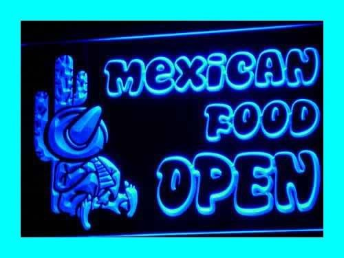 Insegna al neon i101-b OPEN Mexican Cactus Food Bar Cafe New Light Sign - Neon Open Bar