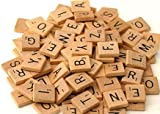 200 x Quality Wooden Scrabble Tiles Craft Jewellery Making Complete Set by Lizzy®