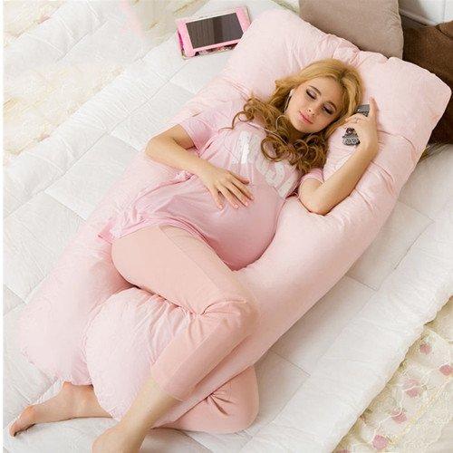 Almohada de Maternidad - MAXGOODS Almohadilla de Apoyo de Embarazo Cojin de Lactancia Soporte Suave de Cuerpo Tener Sueño Profundo y Cómodo para Usar en Cama Sofá Hogar