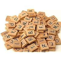200 x qualité En bois Tuiles De Scrabble Artisanat De Bijoux Faisant Complet Ensemble par Lizzy