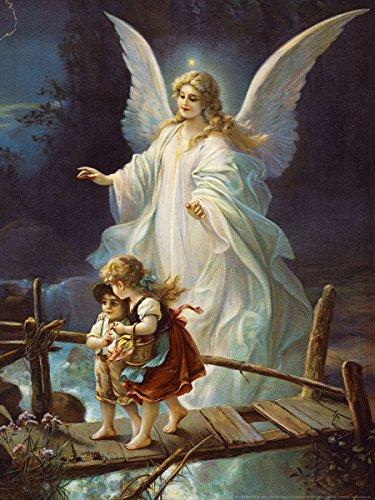Postereck - 0154 - Schutzengel und Kinder, Altes Gemälde - Poster 4:3-40.0 cm x 30.0 cm