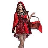 Vestido de la etapa Traje de rol Vestido de traje Citas diarias Fiesta Reina de discoteca Juego de roles Caperucita roja gótica Halloween