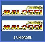 Ecoshirt QS-N6XO-OFGG Adesivi Malossi RIF: Dp595 Aufkleber Adesivi Moto Decals Motrocycle, 5 cm