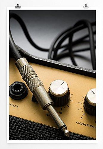 Sinus Art Kunst und Deko Poster - Künstlerische Fotografie - Gitarrenverstärker- Fotodruck in gestochen scharfer Qualität
