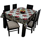 Airwill Branded, 100% Cotton Floral Printed With 6/8 Seater Tablecloth, Sized 140cm Width And 180cm Length, Pack Of 1 Piece