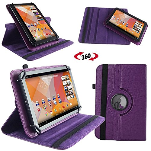 NAUC Hülle für Huawei MediaPad M1 8.0 Tasche Schutzhülle Case Tablet Cover Etui, Farben:Lila