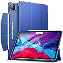 ESR Case for iPad Pro 12.9'' 2020/2018, Yippee Trifold Smart Case with Auto Sleep/Wake, Lightweight Stand Case with Clasp, Hard Back Cover,Navy Blue