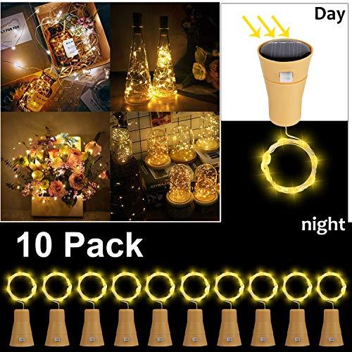 10 Pack Solar LED Luces de Botella de Vino