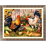 5D Diamant Broderie Coq Chick Painting Cross Stitch DIY Craft Home Decor