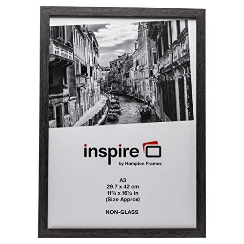 The Photo Album Company Inspire for Business WESA3GRY Bilderrahmen für Urkunden mit Plexiglas 30x42 cm A3 Holz mit Papierüberzug in Westminster-Qualität, nur zum Aufhängen,Dunkelgrau