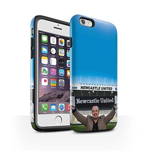 Offiziell Newcastle United FC Hülle / Glanz Harten Stoßfest Case für Apple iPhone 6S / Pack 8pcs Muster / NUFC Rafa Benítez Kollektion Willkommen