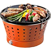 Food & Fun Grillerette Classic - Barbacoa portátil sin Humo, ...