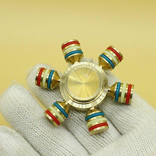 Hand-Spinner-Hand-Fidget-Spinner-Toy-Bester-Roulement-en-Laiton-Cuivre-Fidget-Spinner-Cube-EDC-Jouet-Poigne-et-Conception-de-Dessus-de-Table--Grande-Vitesse-1-3-Minutes-Spins-Main-Spinners-Stress-Reli