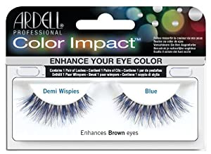 Ardell Color Impact Lash False Eyelashes - Demi Wispies Blue (Pack of 2) by Ardell
