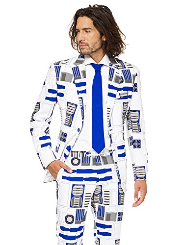 M Men's Suit - Official R2-D2TM Costume Comes With Pants, Jacket and Tie, R2-d2TM, 48 ()