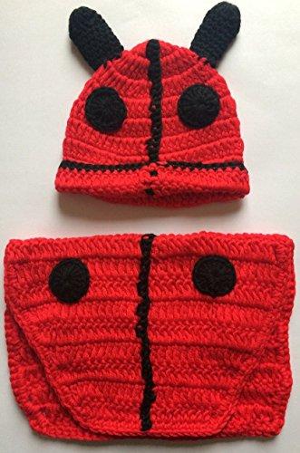 Lady Bird, Newborn Baby Mädchen Boy/crochet Knit Kostüm Foto Fotografie Prop Hüte Outfits