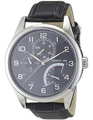 Cerruti 1881 Herren-Armbanduhr XL FERRETTI Analog Leder CRA048A275H