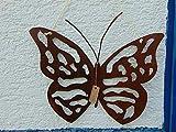 Edelrost Hänger Schmetterling Plasma groß Gartendeko 32 x 29 cm