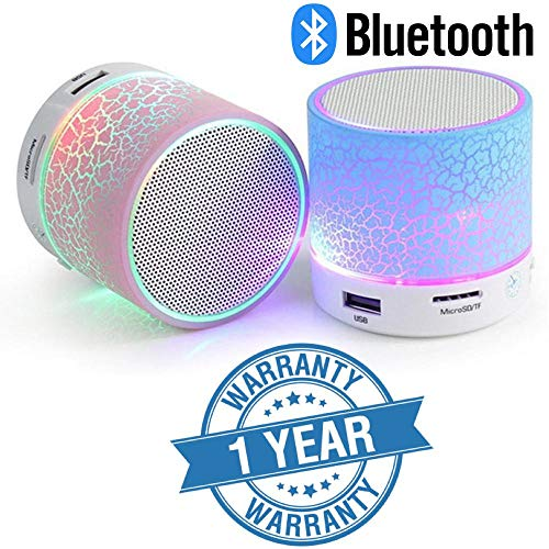 Lambent Wireless Mini LED Lights Bluetooth Speaker - FM Radio, Micro- Assorted Color