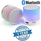 Lambent Wireless Mini LED Lights Bluetooth Speaker - FM Radio, Micro- Assorted Color