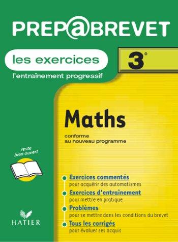 Prépabrevet, les exercices : Mathématiques, 3e