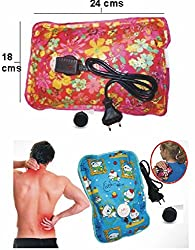 Heat Bag Hot Gel Bottle Pouch Massager Warm for Winter Aches reliever Rectangle Shaped (Design & Color May Vary) By First 4