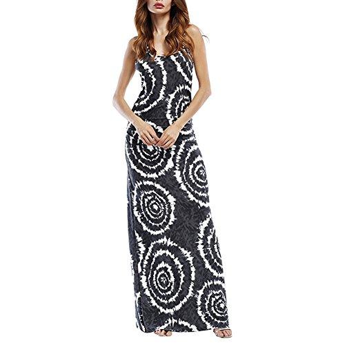 iBaste 2018 cicalino Boho vestito spiaggia Vestito casual Maxi #1