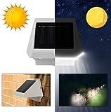 [wasserabweisend] solarek 2LED Solar Powered Motion Sensor Zaun Licht. Einfache Installation/strapazierfähige Yard/Garten/Weg/Terrasse/Deck/Garage/Outdoor/Dach/Treppe/Veranda Landschaft Dekorations Beleuchtung 2Stück