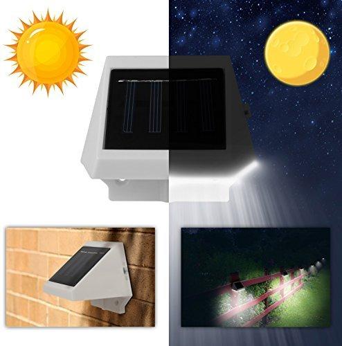 【 Wasser 】 solarek 4LED Solar Powered Motion Sensor Zaun Licht. Einfache Installation/langlebig. Für Hof/Garten/Weg/Terrasse/Deck/Garage/Outdoor/Dach/Treppe/Veranda Landschaft Beleuchtung Dekoration
