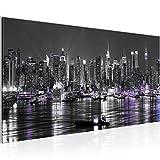 Bilder New York City Wandbild Vlies - Leinwand Bild XXL Format Wandbilder Wohnzimmer Wohnung Deko Kunstdrucke Grau 1 Teilig - MADE IN GERMANY - Fertig zum Aufhängen 601912c