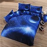 parure de lit housse de couette galaxie plan te espace 1 personne cuisine maison. Black Bedroom Furniture Sets. Home Design Ideas