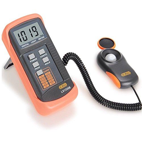Digitale Luxmeter Lichtmessung Beleuchtungsmessgerät LX1330B 200000 Lux mit hoher Genauigkeit, schneller Reaktion und Daten halten (1330)