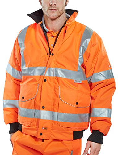 Super b-dri Bomber Jacke, Orange, bd71or Hi-Viz Orange