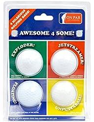 Links Choice NOV-4PK-BALL - Set de 4 pelotas de broma alucinantes