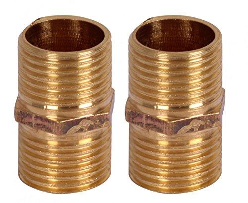 Wohling 2er Set Adapter 1/2 Zoll Wasseranschluss Schlauchanschlusswinkel Duschsäule Duschpaneel gerade