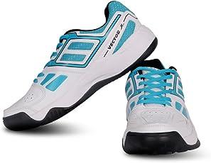 Vector X TS-7000 Tennis Shoes (White-Sky Blue)