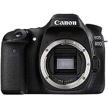 Canon 1263C036 EOS 80D Appareil Photo Reflex numérique Noir (certifié reconditionné)