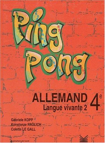 ALLEMAND 4EME LV2 par Gabriele Kopp, Colette Le Gall, Konstanze Frolich