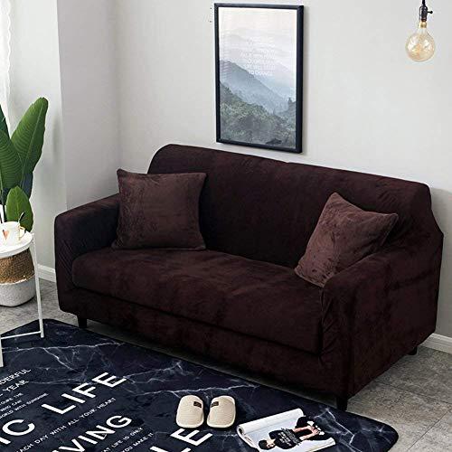 Unbekannt SFT Stylish Atmospheric Sofa Cover, Elastische Full Cover Sofa Cover / 1 Stück Möbelabdeckung mit Gummiband,Liebe Sitze,Beige