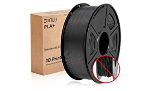 PLA+ 3D Printer Filament,PLA+ Filament 1.75 mm SUNLU,Low Odor Dimensional Accuracy +/- 0.02 mm 3D Printing Filament,2.2 LBS (1KG) Spool 3D Printer Filament for 3D Printers & 3D Pens
