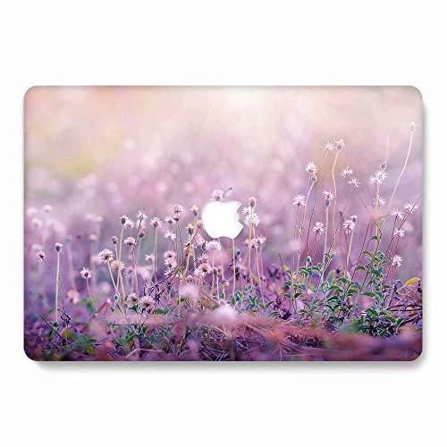 AQYLQ MacBook Schutzhülle/Hard Case Cover Laptop Hülle [Für 2016/2017/2018 neu MacBook Pro 15 Zoll Modell A1707/A1990], Plastik Matt Hartschale Schutzhülle, 751 lila Blume Lila Hard Case Cover