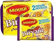 Maggi 2 Minute Noodles Biryani 77g (Pack of 5)