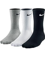 Nike Lightweight Crew, Pack de 3 Calcetines Unisex para Adulto, Multicolor (Gris/Blanco/Negro), 34–38 (S)