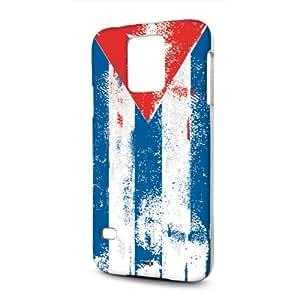 Handyschale Handycase für Samsung Galaxy S5 G900F / S5 Neo G903F veredelt mit YOUNiiK Styling Skin - Kuba Paint Flag