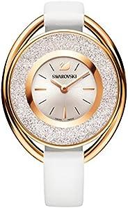 Swarovski Crystalline Oval White Tone Watch