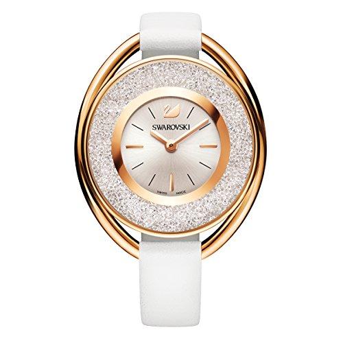 Swarovski crystalline oval white tone orologio