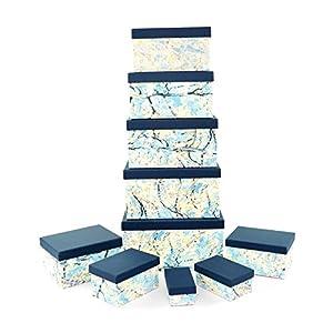 Gifts 4 All Occasions Limited SHATCHI-1294 Shatchi - Cajas de almacenamiento con tapa para decoración del hogar, regalos de Navidad, suministros para fiestas 11672, multicolor